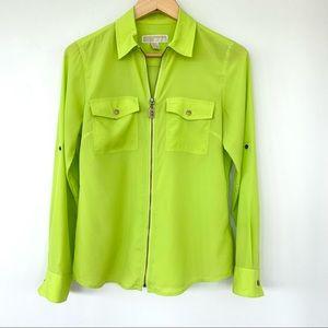 Michael Kors shirt jacket with zipper
